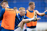 St Johnstone v Rangers…11.09.21  McDiarmid Park    SPFL<br />Ali Crawford pictured during the warm up with JamieMcCart<br />Picture by Graeme Hart.<br />Copyright Perthshire Picture Agency<br />Tel: 01738 623350  Mobile: 07990 594431