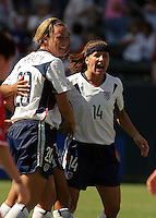 USA Women celebrate, USA vs. Canada at the Third Place Match of the FIFA Women's World Cup USA 2003. USA 3, Canada, 1. (October 11, 2003). .