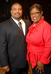 Yohance Turk and Yolanda Green at the March of Dimes Signature Chefs event at The Omni Hotel Wednesday Oct. 07,2009. (Dave Rossman/For the Chronicle)