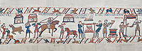 Bayeux Tapestry scene 41 - 42:  Cooks are supervised by Wadar, one of Williams servants. BYX41 - 42