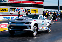Sep 4, 2020; Clermont, Indiana, United States; NHRA factory stock driver Richard Bierie during qualifying for the US Nationals at Lucas Oil Raceway. Mandatory Credit: Mark J. Rebilas-USA TODAY Sports