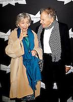 EMMANUELLE RIVA ET JEAN-LOUIS TRINTIGNANT - AVANT-PREMIERE DU FILM 'AMOUR' ET HOMMAGE A JEAN-LOUIS TRINTIGNANT, A LA CINEMATHEQUE FRANCAISE.