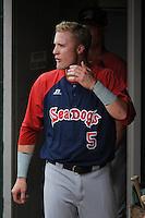 Portland Sea Dogs outfielder Kolbrin Vitek (5) during game against the Trenton Thunder at ARM & HAMMER Park on June 23, 2013 in Trenton, NJ.  Portland defeated Trenton 11-0.  (Tomasso DeRosa/Four Seam Images)