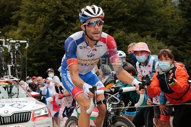 Thibaut Pinot (FRA) Groupama-FDJ climbs Col de Marie Blanque during Stage 9 of Tour de France 2020, running 153km from Pau to Laruns, France. 6th September 2020. <br /> Picture: Colin Flockton | Cyclefile<br /> All photos usage must carry mandatory copyright credit (© Cyclefile | Colin Flockton)