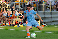 Kendall Fletcher (4) of Sky Blue FC. Sky Blue FC defeated the Philadelphia Independence 2-0 during a Women's Professional Soccer (WPS) match at Yurcak Field in Piscataway, NJ, on July 23, 2011.