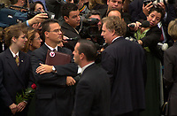 Montreal (qc) CANADA - Oct 3rd 2000 file Photo- Funeral of former Canadien Prime Minister Pierre Eliott Trudeau :Jean Charest<br /> <br /> PHOTO : Agence Quebec Presse - Pierre Roussel