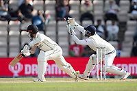 Kane Williamson, New Zealand plays and misses, Rishabh Pant, India can't take cleanly during India vs New Zealand, ICC World Test Championship Final Cricket at The Hampshire Bowl on 23rd June 2021