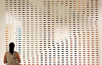 Quindicesima edizione della Quadriennale d'arte di Roma al Palazzo delle Esposizioni, 20 giugno 2008..15th edition of Rome's Art Quadriennial exhibition at the Palazzo delle Esposizioni..Antonio Riello: Elegant Warfare, 2007 - Metallo specchiante (reflecting metal)..UPDATE IMAGES PRESS/Riccardo De Luca