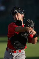 Chris Davis of the Visalia Rawhide during game against the Lancaster JetHawks at Clear Channel Stadium in Lancaster,California on June 10, 2010. Photo by Larry Goren/Four Seam Images