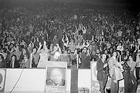 Debat electoral avec<br />  Rene Levesque,<br /> Robert Bourassa,<br /> Yvon Dupuis,<br /> <br /> le 2 Octobre 1973,<br /> <br /> Les elections on lieu le 29 octobre 1973 et sont remplorté par le PLQ de Robert Bourassa.<br /> <br /> PHOTO  : Agence Quebec Presse - Alain Renaud