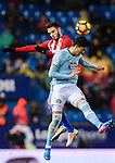 Saul Niguez Esclapez of Atletico de Madrid battles for the ball with Pedro Pablo Hernandez of RC Celta de Vigo during their La Liga match between Atletico de Madrid and RC Celta de Vigo at the Vicente Calderón Stadium on 12 February 2017 in Madrid, Spain. Photo by Diego Gonzalez Souto / Power Sport Images