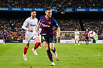 Ivan Rakitic of FC Barcelona (R) in action during the La Liga 2018-19 match between FC Barcelona and Sevilla FC at Camp Nou Stadium on October 20 2018 in Barcelona, Spain. Photo by Vicens Gimenez / Power Sport Images