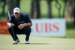 Craig Lee of Scotland ponders his next shot during Hong Kong Open golf tournament at the Fanling golf course on 24 October 2015 in Hong Kong, China. Photo by Aitor Alcade / Power Sport Images