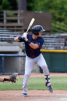Cedar Rapids Kernels third baseman Andrew Bechtold (4) at bat during a Midwest League game against the Beloit Snappers on June 2, 2019 at Pohlman Field in Beloit, Wisconsin. Beloit defeated Cedar Rapids 6-1. (Brad Krause/Four Seam Images)