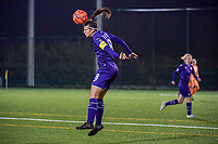 Anderlecht defender Laura De Neve (8) pictured during a female soccer game between RSC Anderlecht Dames and Eendracht Aalst Ladies  on the fourth matchday of the 2020 - 2021 season of Belgian Womens Super League , Tuesday 13 th of October 2020  in ANDERLECHT , Belgium . PHOTO SPORTPIX.BE | SPP | STIJN AUDOOREN