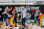 Music sensation Jake Owen in action before the NASCAR AAA Texas 500 race at Texas Motor Speedway in Fort Worth,Texas.