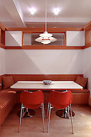 dining table in the kitchen