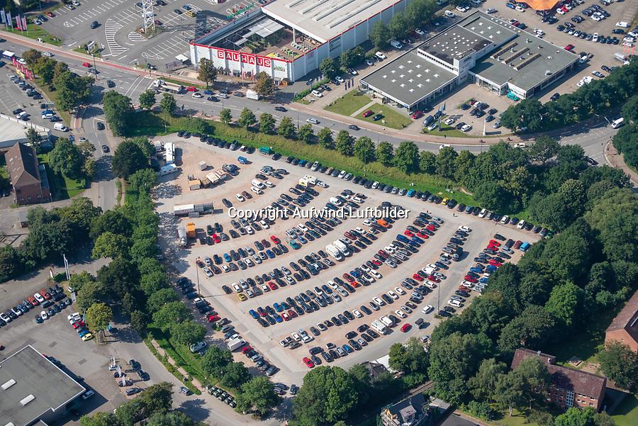 Frascatiplatz: EUROPA, DEUTSCHLAND, HAMBURG, BERGEDORF (EUROPE, GERMANY), 1.09.2021: Frascatiplatz