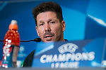 Atletico de Madrid coach Diego Pablo Simeone during press conference the day before champions league match between Atletico de Madrid and Roma at Wanda Metropolitano in Madrid, Spain. November 21, 2017. (ALTERPHOTOS/Borja B.Hojas)