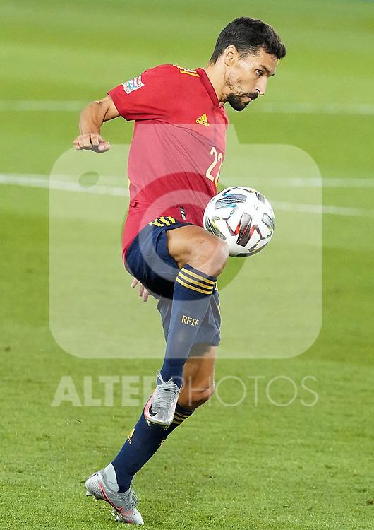 Spain's Jesus Navas during UEFA Nations League 2020 League Phase match. October 10,2020.(ALTERPHOTOS/Acero)