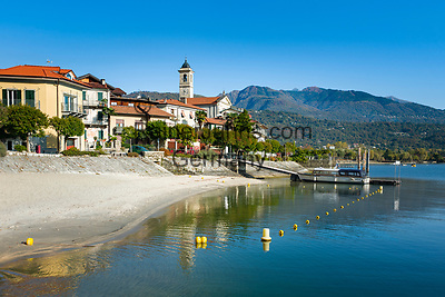Italy, Piedmont, Baveno - district Feriolo: resort at Lago Maggiore between Baveno and Verbania   Italien, Piemont, Baveno, Ortsteil Feriolo: schoener Urlaubsort am Lago Maggiore zwischen Baveno und Verbania