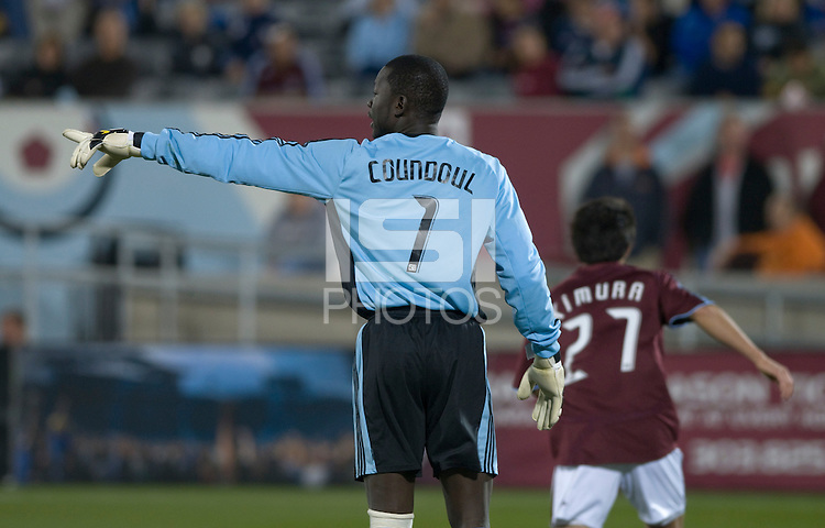 Colorado goalkeeper Bouna Coundoul. Real Salt Lake earned a tied versus the Colorado Rapids securing a place in the postseason. Dick's Sporting Goods Park, Denver, Colorado, October, 25, 2008. Photo by Trent Davol/isiphotos.com