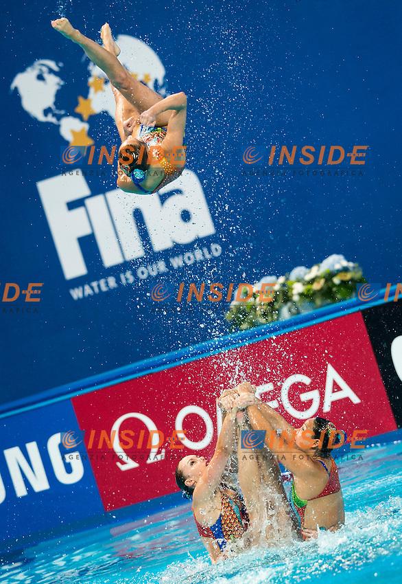CAN - Canada<br /> BRISSON Gabriella FRAPPIER Annabelle<br /> HOLZNER Claudia MAULE Rebecca<br /> MORIN Marie-Lou NEALON Samantha<br /> SANDERS Lisa SAVARD Elizabeth<br /> SIMONEAU Jacqueline THOMAS Karine<br /> Day 9 01/08/2015<br /> XVI FINA World Championships Aquatics<br /> Synchro<br /> Kazan Tatarstan RUS July 24 - Aug. 9 2015 <br /> Photo Giorgio Scala/Deepbluemedia/Insidefoto