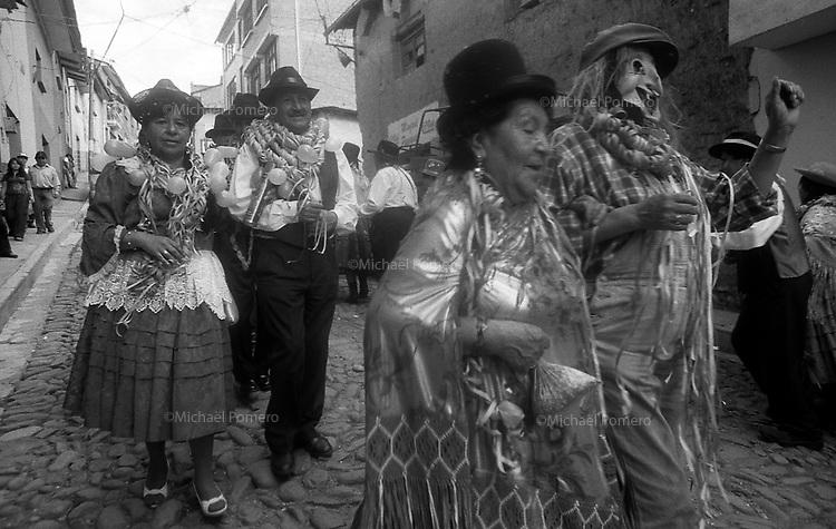 02.2010  Coroico (Bolivia)<br /> <br /> Défilé du carnaval a Coroico.<br /> <br /> Parade of carnival in Coroico.