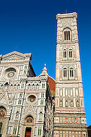 The Renaissance Bell Tower of the Florence Duomo, Italy. A UNESCO World Heritage Site