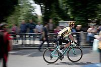 Primoz Roglic (SVK/Jumbo-Visma) at the race start in Pinerelo<br /> <br /> Stage 13: Pinerolo to Ceresole Reale/Lago Serrù (196km)<br /> 102nd Giro d'Italia 2019<br /> <br /> ©kramon
