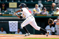 Bradenton Marauders shortstop Alen Hanson #22 during a game against the Fort Myers Miracle at McKechnie Field on April 7, 2013 in Bradenton, Florida.  Fort Myers defeated Bradenton 9-8 in ten innings.  (Mike Janes/Four Seam Images)