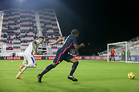 FORT LAUDERDALE, FL - DECEMBER 09: Ayo Akinola #9 of the United States chases down a loose ball during a game between El Salvador and USMNT at Inter Miami CF Stadium on December 09, 2020 in Fort Lauderdale, Florida.
