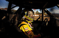 Dec. 18, 2009; Lake Elsinore, CA, USA; LOORRS driver Kyle LeDuc sits in his truck during qualifying for the Lucas Oil Challenge Cup at the Lake Elsinore Motorsports Complex. Mandatory Credit: Mark J. Rebilas-US PRESSWIRE