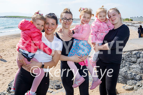 Enjoying the afternoon in Fenit on Thursday, l to r: Sofia Culloty, Gosia Pabiz, Kasia, Isabella and Lily Anna Hobjakova.
