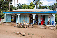 Tanzania.  Mto wa Mbu. Typical Series of Shops on a Side Street. Photo Studio, Construction Supplies, Sundry Consumables.
