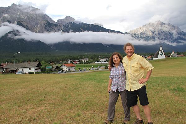 John Kieffer and Beth Crespo near Innsbruck, Austria. Europe 2013.