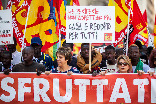 Exploited.<br /> <br /> Rome, 01/05/2019. This year I will not go to a MayDay Parade, I will not photograph Red flags, trade unionists, activists, thousands of members of the public marching, celebrating, chanting, fighting, marking the International Worker's Day. This year, I decided to show some of the Workers I had the chance to meet and document while at Work. This Story is dedicated to all the people who work, to all the People who are struggling to find a job, to the underpaid, to the exploited, and to the people who work in slave conditions, another way is really possible, and it is not the usual meaningless slogan: MAKE MAYDAY EVERYDAY!<br /> <br /> Happy International Workers Day, long live MayDay!
