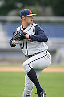 2007:  Duke Welker of the State College Spikes, Class-A affiliate of the Pittsburgh Pirates, during the New York-Penn League baseball season.  Photo By Mike Janes/Four Seam Images
