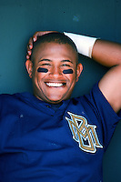 Ronnie Belliard of the Milwaukee Brewers before a 1999 Major League Baseball Spring Training game in Phoenix, Arizona. (Larry Goren/Four Seam Images)