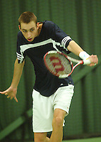 10-3-06, Netherlands, tennis, Rotterdam, National indoor junior tennis championchips, Thomas Schorel