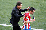 Atletico de Madrid's coach Diego Pablo Cholo Simeone with Nicolas Gaitan during La Liga match. March 19,2017. (ALTERPHOTOS/Acero)