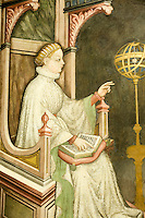 Italien, Umbrien, Fresken im Museum Trinci in Foligno, Raum der liberalen Künste, gotischer Stil von 1412