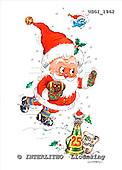 GIORDANO, CHRISTMAS SANTA, SNOWMAN, WEIHNACHTSMÄNNER, SCHNEEMÄNNER, PAPÁ NOEL, MUÑECOS DE NIEVE, paintings+++++,USGI1862,#X#