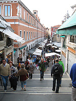 Markets on the Rialto Bridge - Venice