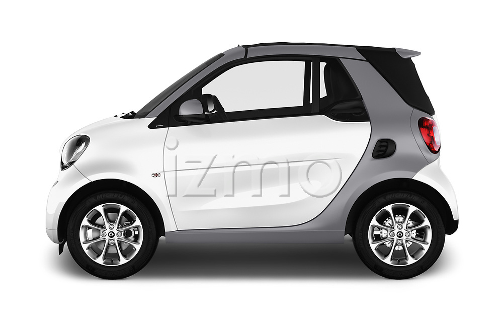 Car Driver side profile view of a 2017 Smart Fortwo Passion 2 Door convertible Side View