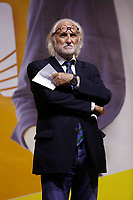 Former minister Alessandro Bianchi on the stage during the closing of the election campaign for the new mayor of the city.<br /> Rome (Italy), October 1st 2021<br /> Photo Samantha Zucchi Insidefoto