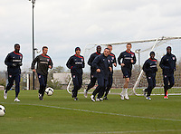 US Men's National Team. Training in Nashville, Tennessee on March 29th, 2009 prior to FIFA World Cup qualifier, U.S. Men's National Team vs. Trinidad & Tobago.