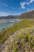 Confluence of the Marsh Fork of the Canning River and the Canning River in the Arctic National Wildlife Refuge, Brooks Range mountains, Alaska.
