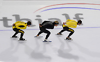 SCHAATSEN: HEERENVEEN, 11-08-2020, IJsstadion Thialf, Topsportraining / Ploegenachtervolging, ©foto Martin de Jong