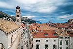 Looking down Stradun, Dubrovnik's main street from the city's walls.